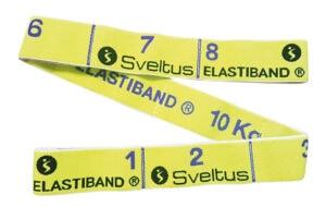Traka za vježbanje Sveltus Elastiband, žuta, otpor 10 kg