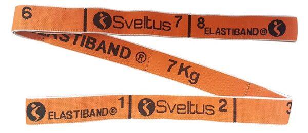 Traka za vježbanje Sveltus Elastiband, narančasta, otpor 7 kg