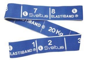 Traka za vježbanje Sveltus Elastiband, plava, otpor 20 kg