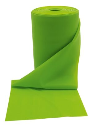 Gumena traka za fitness, zelena, srednja razina otpora