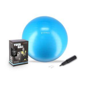 Pilates lopta s ručnom pumpom, promjer 75 cm