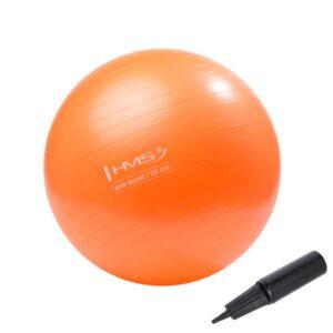 Fitnes lopta, ANTI-BURST, s ručnom pumpom, promjer 55 cm