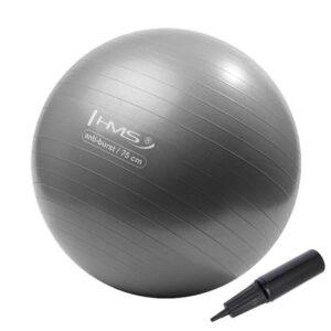 Fitnes lopta, ANTI-BURST, s ručnom pumpom, promjer 75 cm