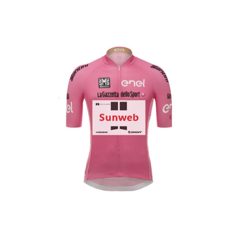 Majica GIANT Team Sunweb Santini Leaders kratki rukavi, roza
