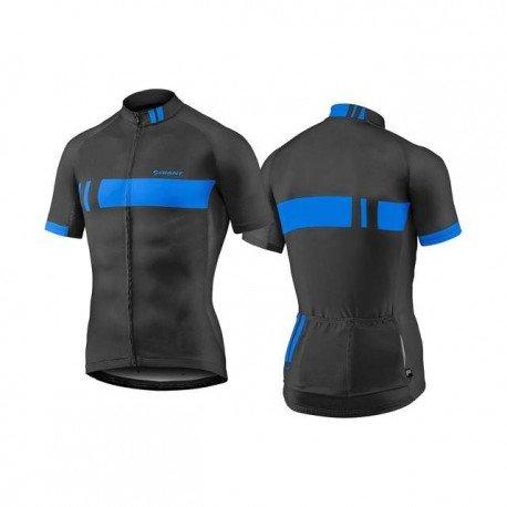 Majica GIANT Podium, kratki, crna/plava