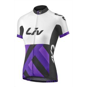 Majica Liv Race Day, bijela/ljubičasta