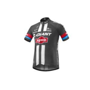 Majica dječja GIANT Alpecin, kratki, crna