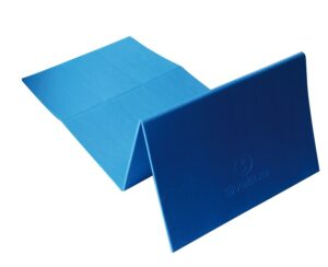 Preklopiva podloga za vježbanje, plava, 140×50 cm