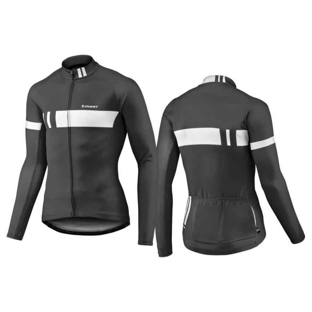 Majica GIANT Podium Thermo, dugi, crna/bijela