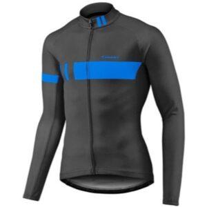 Majica GIANT Podium Thermo, dugi, crna/plava