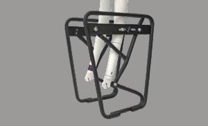 Nosač tereta RFR LOWRIDER Standard na vilicu Black 13786