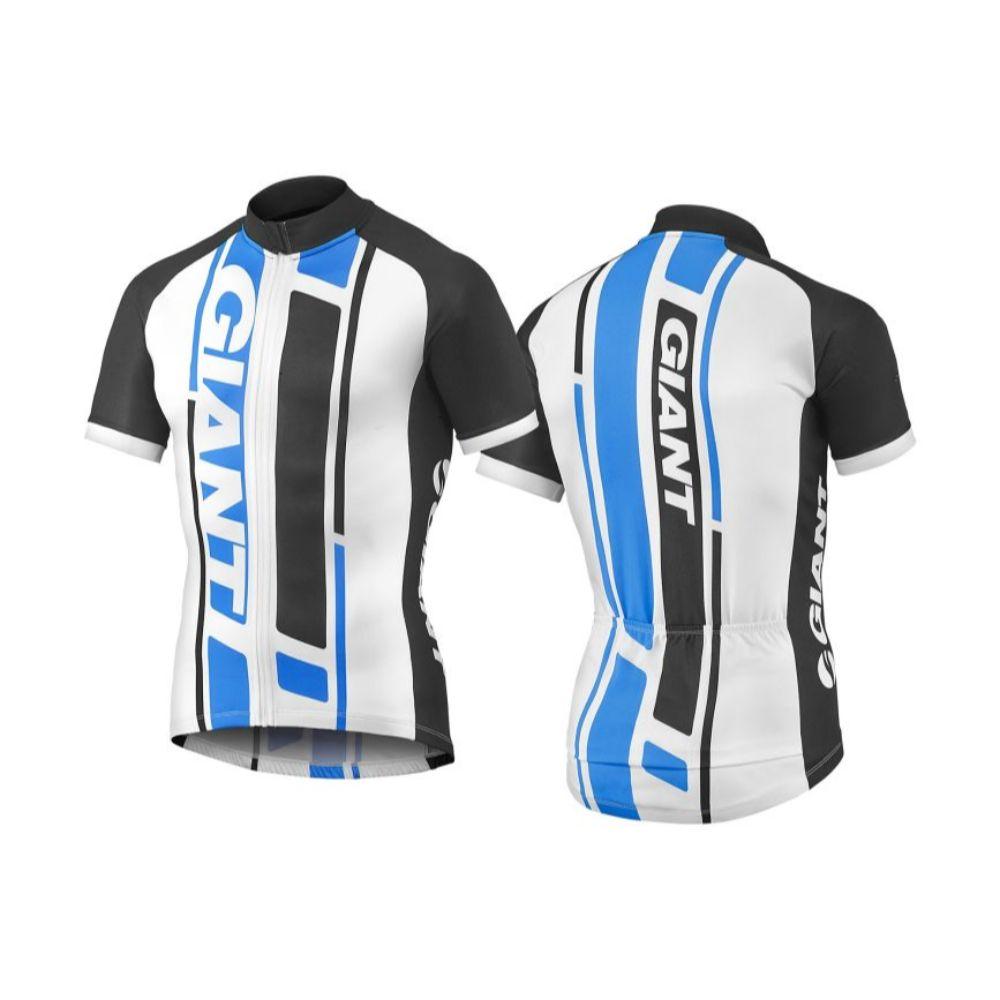 GIANT GT-S biciklistička majica kratkih rukava, crna/plava/bijela boja
