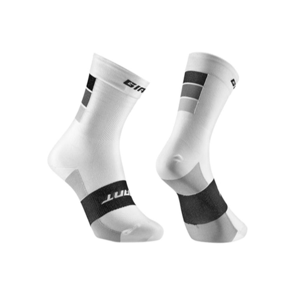 GIANT čarape Elevate, bijela / siva