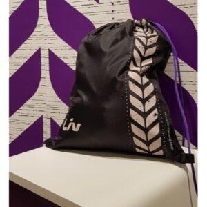 Fitnes torba Liv složiva crna 35x44cm