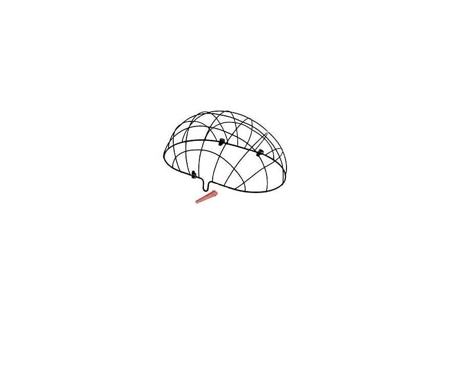 Rešetka za košaru za kućne ljubimce Basil Pluto, crna