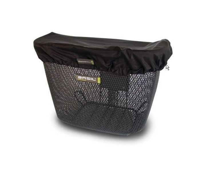 Pokrivalo za kišu za prednje košare Basil Cover crna