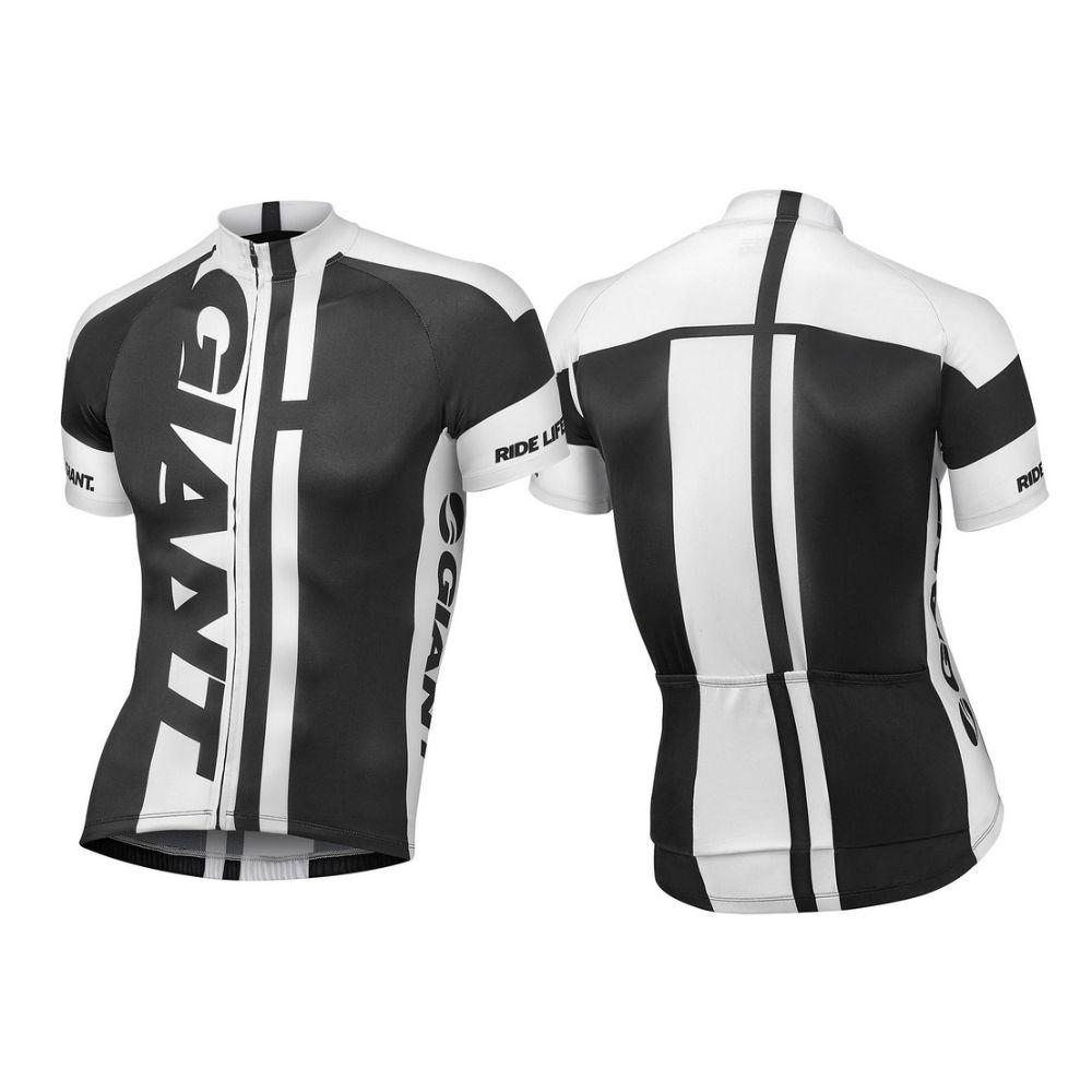 Majica GIANT GT-S, kratki rukavi, crna/bijela boja