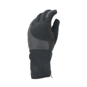 Rukavice SEALSKINZ WP Cold weather Reflective cycle black