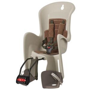 Stražnja sjedalica, Polisport BILBY, smeđa. montaža na okvir bicikla