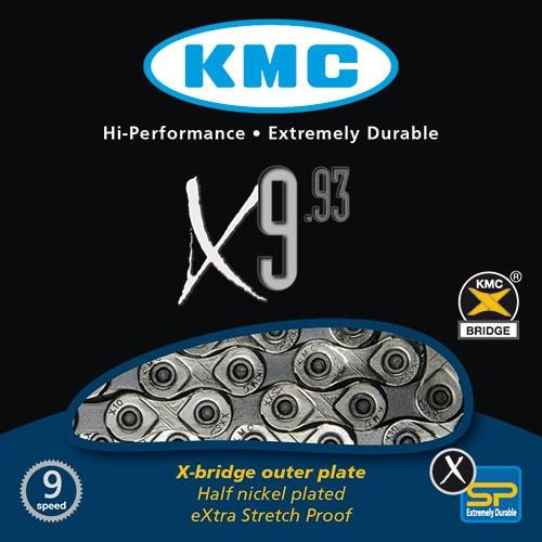 Lanac KMC X9.93 NP/GYX 116L 9B