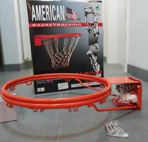 Košarkaški obruč s oprugom i mrežicom, promjer 45 cm