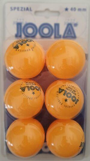 Set od 6 loptica Joola Spezial 1*, narančasta