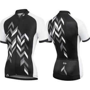 Majica Liv Accelerate, kratki, crna/bijela