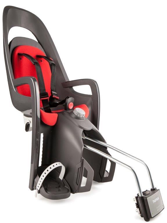 Stražnja dječja sjedalica Hamax Caress, siva/crvena