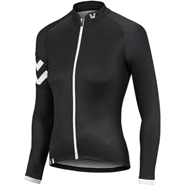 Majica Liv Radiant dugi crna/bijela
