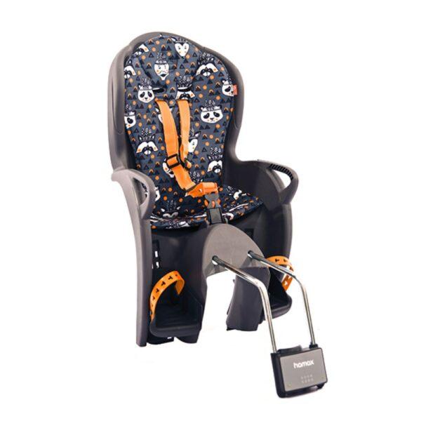 Sjedalica stražnja Hamax Kiss siva/narančasta/bijela