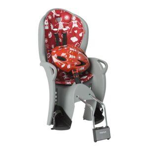 Sjedalica stražnja Hamax Kiss Safety Package kaciga siva/crvena