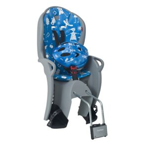 Sjedalica stražnja Hamax Kiss Safety Package kaciga siva/plava