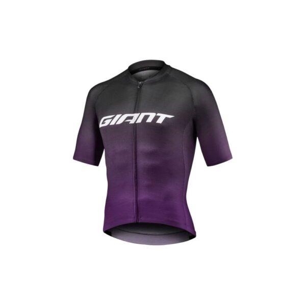 Majica Giant Race Day kratki crna/ljubičasta
