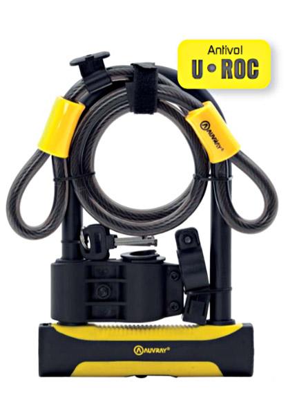 Lokot U-Lock Auvray ROC 180×245 mm + sajla 12 mm