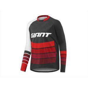 Majica Giant Transfer dugi crna/crvena