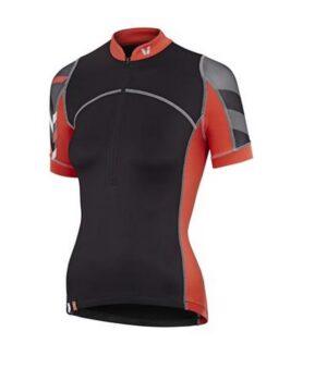 Liv Aqua, ženska biciklistička majica, kratki rukavi, siva/narančasta boja