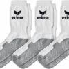 Sportske čarape Erima – 3 para, bijelo-sive