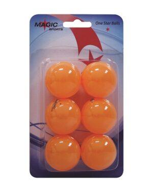 Set od 6 stolnoteniskih loptica 1*, narančasta