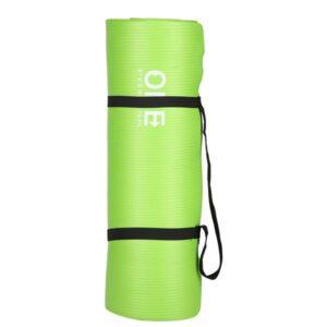 Prostirka za jogu One fitnes, zelena, debljine 15 mm
