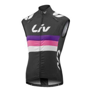 Prsluk Liv Race Day Windbreaker crna/roza